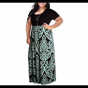 🆕Short Sleeve Plus Size Casual Maxi Dress